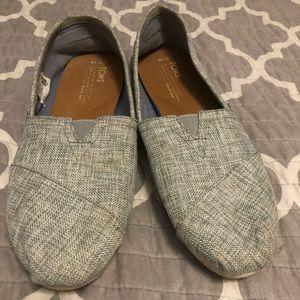 Gray Linen Tom's Women's Size 10